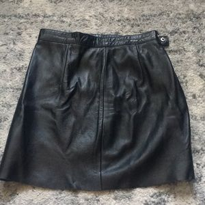 American Apparel leather mini skirt